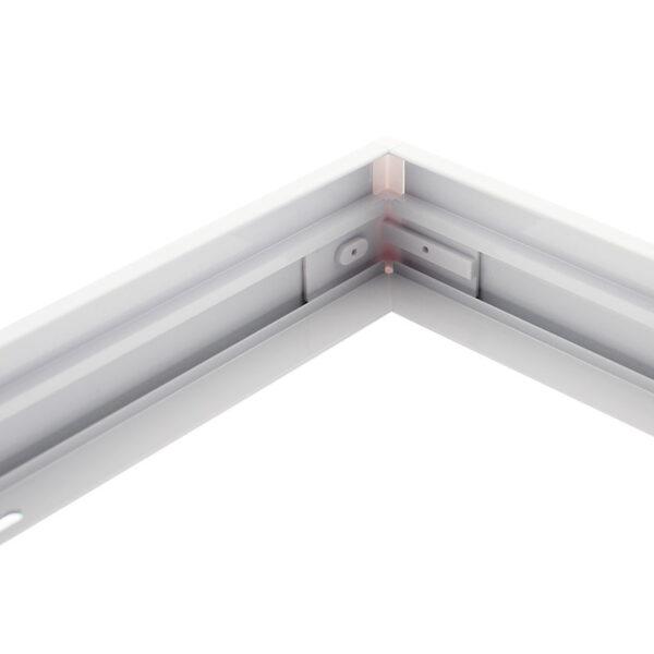Kit marco Blanco para instalar Panel Led 60x120cm en superficie