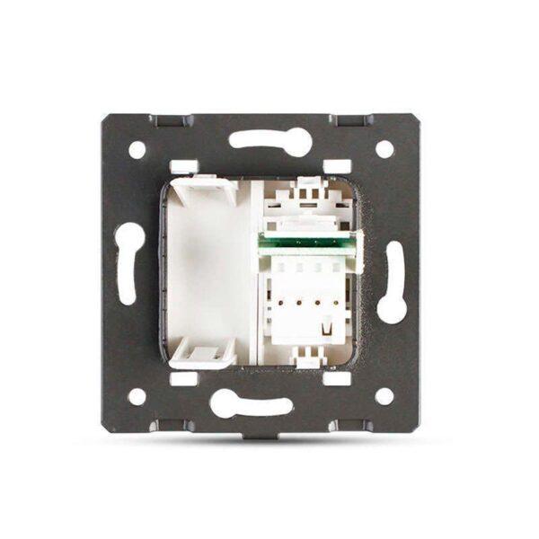 Conector Teléfono RJ11 negro para mecanismo de empotrar