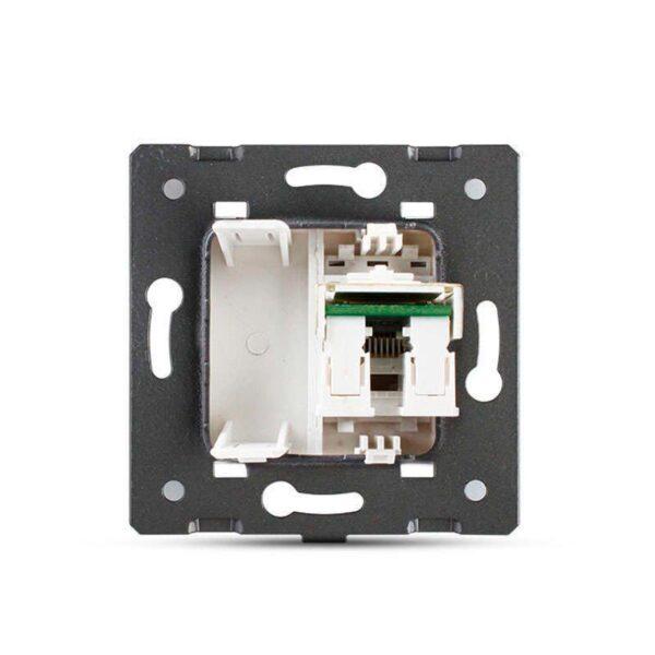Conector Red RJ45 verde para mecanismo de empotrar