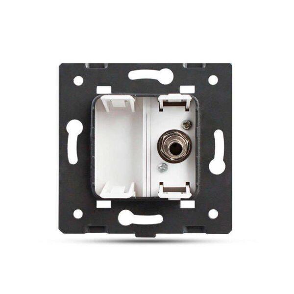 Conector  SAT gris para mecanismo de empotrar