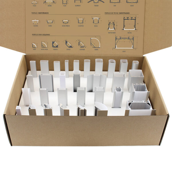 Muestrario perfiles de aluminio C01